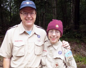 Joel and Tom at Scout Camp