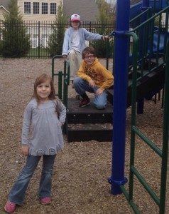 kids at the playground