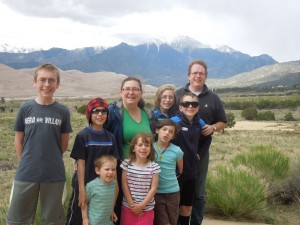 family at great sand dunes