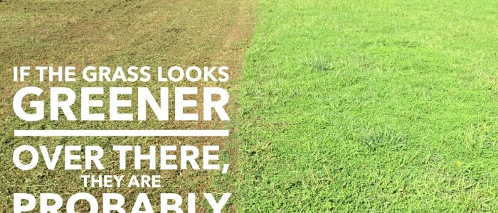 If the grass looks greener…
