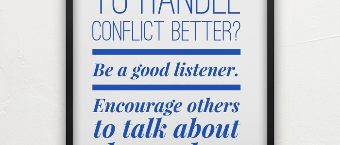 Action point: Reduce conflict