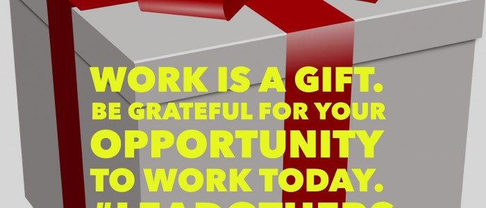 Do you appreciate getting to work?