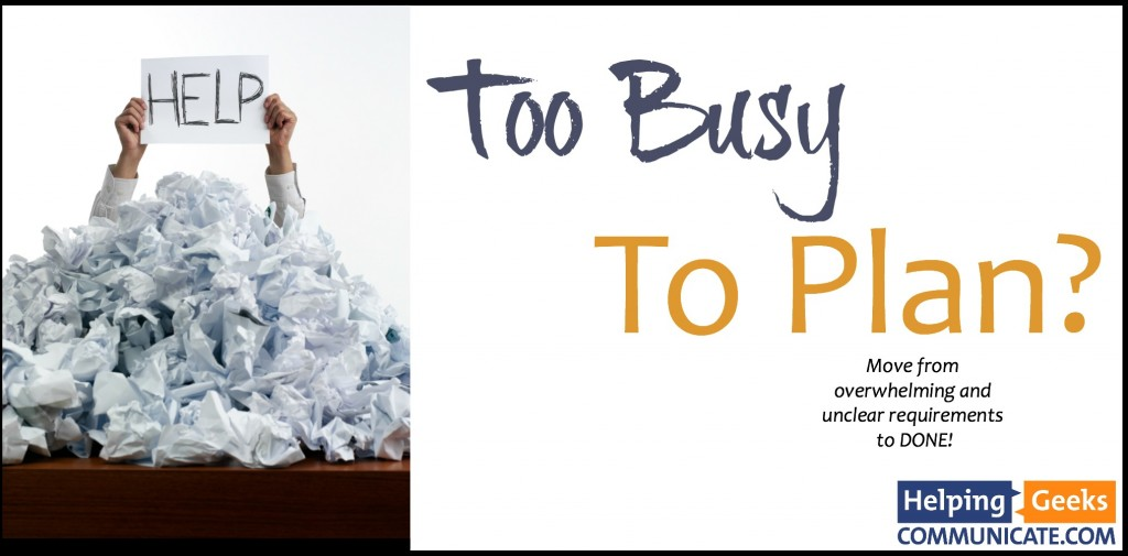 Too Busy To Plan logo